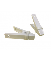 ElastiClips |White Handles Single-Color Bands [ 60-Gram Clips ]