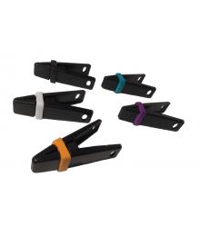 ElastiClips | Black Handles Multi-Color Bands [ 10-Gram Clips ]