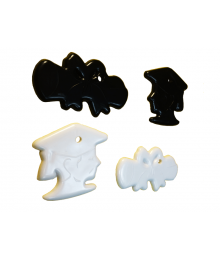 Graduation Shape Black & White Mix [ 15-Gram Weights ]