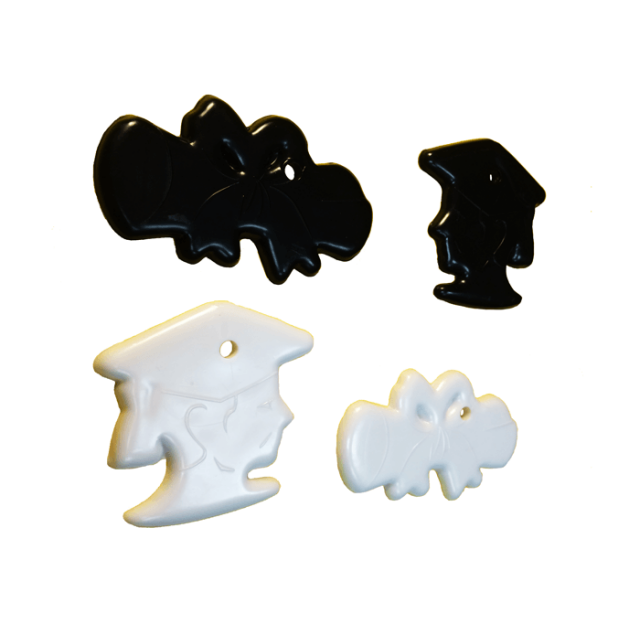 Graduation Shape Black & White Mix [ 15-Gram Weights ] - Control Balloon Products