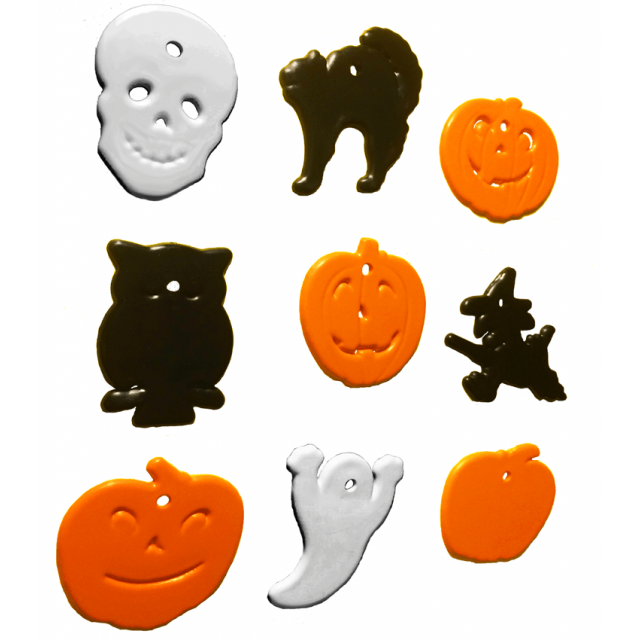 Halloween Shape Multi-Color Mix [ 8-Gram Weights ] - Control Balloon Products