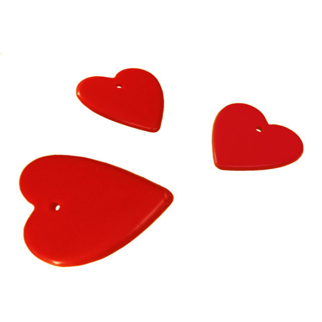 Heart Shape Red Mix [ 8-Gram Weights ] - Control Balloon Products