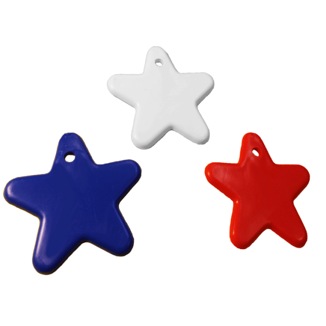 Star Shape Patriotic Mix [ 8-Gram Weights ] - Control Balloon Products