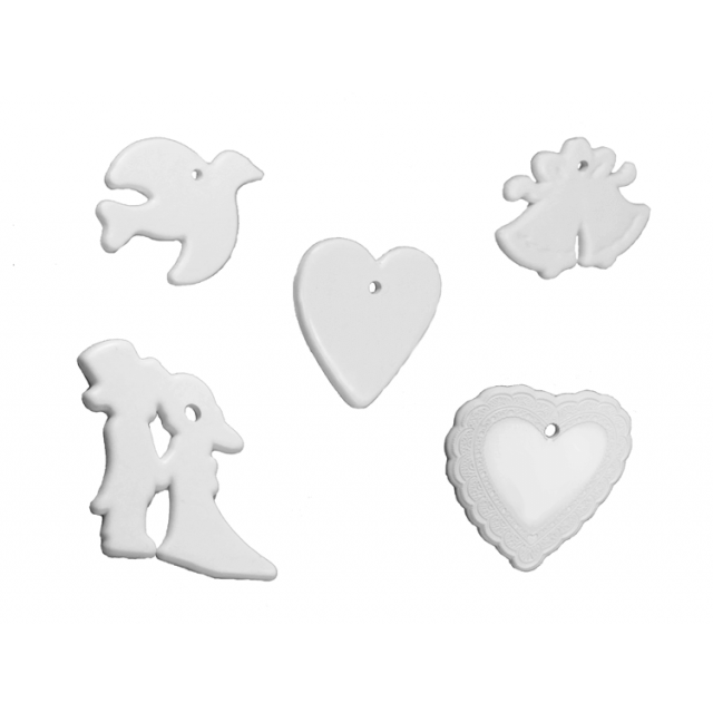 Wedding Shape White Mix [ 8-Gram Weights ] - Control Balloon Products