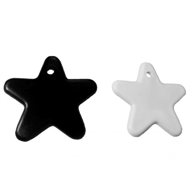 Star Shape Black & White Mix