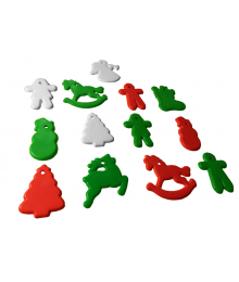 Christmas Shape Multi-Color Mix [ 8-Gram Weights ]