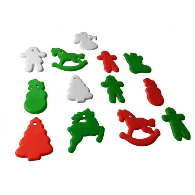 Christmas Shape Multi-Color Mix [ 8-Gram Weights ] - Control Balloon Products
