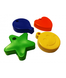 Assorted Shape Primary Mix [ 65-Gram Weights ]