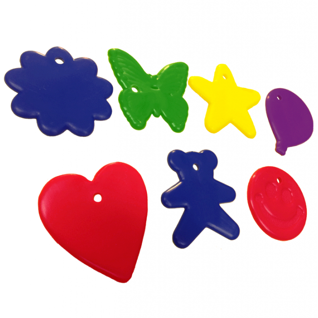 Assorted Shape Primary Mix [ 8-Gram Weights ] - Control Balloon Products