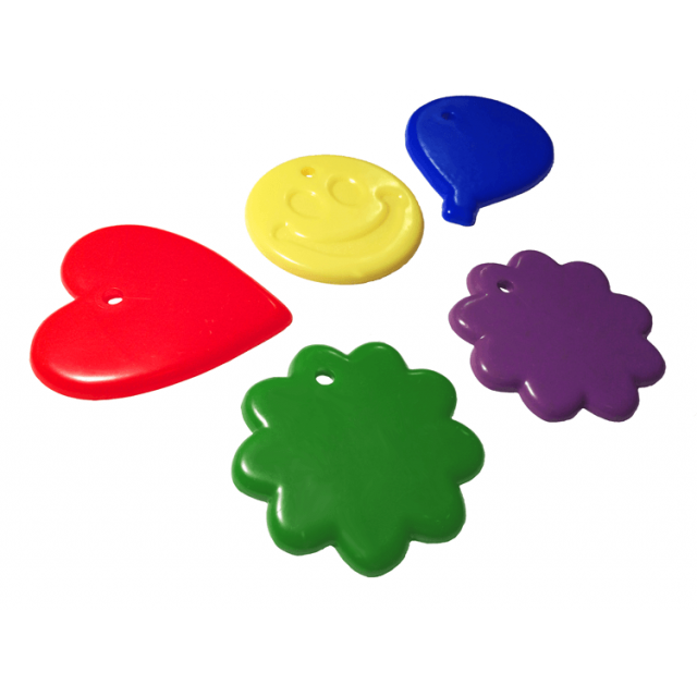 Assorted Shape Primary Mix [ 15-Gram Weights ] - Control Balloon Products